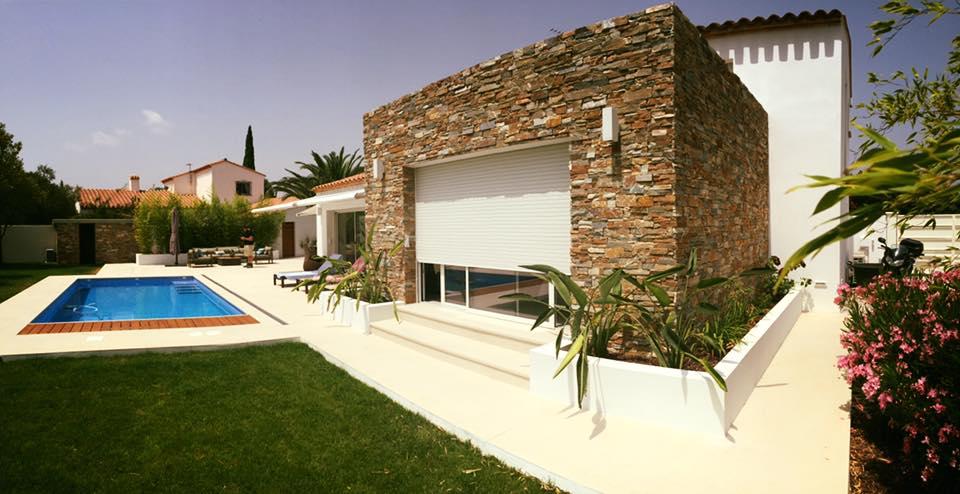murs parement extension maison